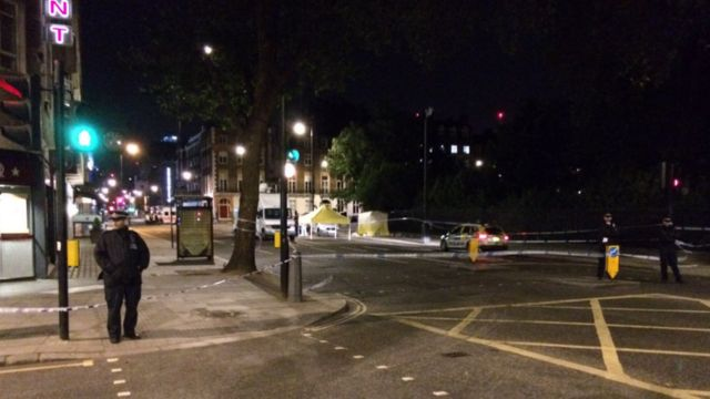 Scene of knife attack Russell Square