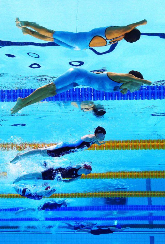 Prueba de natación en Londres 2012