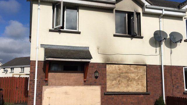 Damage to house