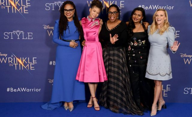 Ava DuVernay (far left) at the debut of A Wrinkle in Time
