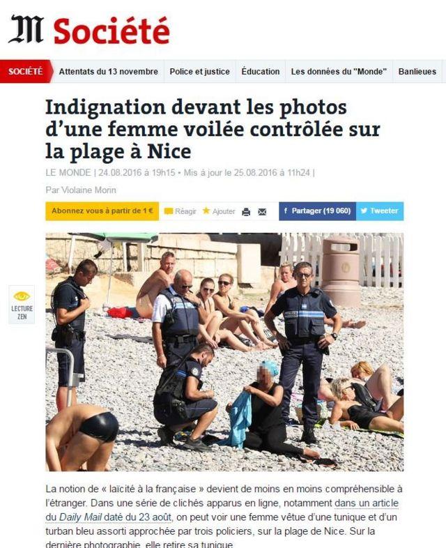 Reportagem do Le Monde
