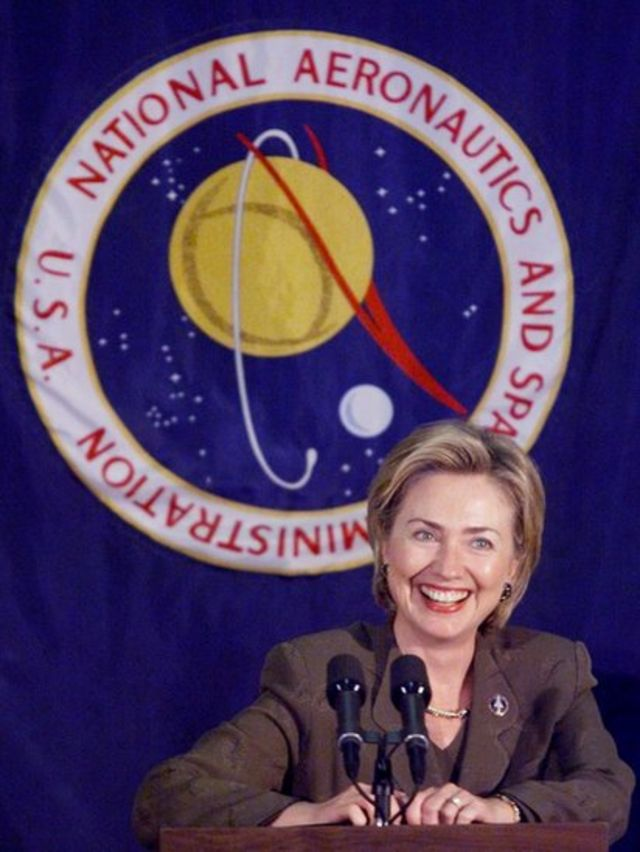 Hillary Clinton en la NASA.
