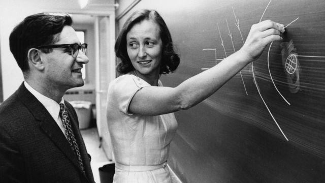 Morawetz junto al profesor de la Universidad de Nueva York Harold Grad, el 10 de agosto de 1964.