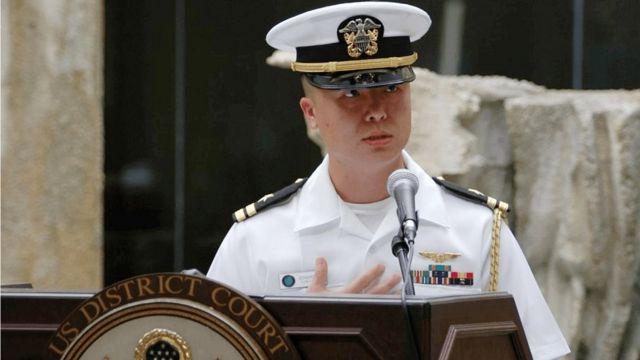 米海軍のエドワード・リン少佐(写真は2008年)