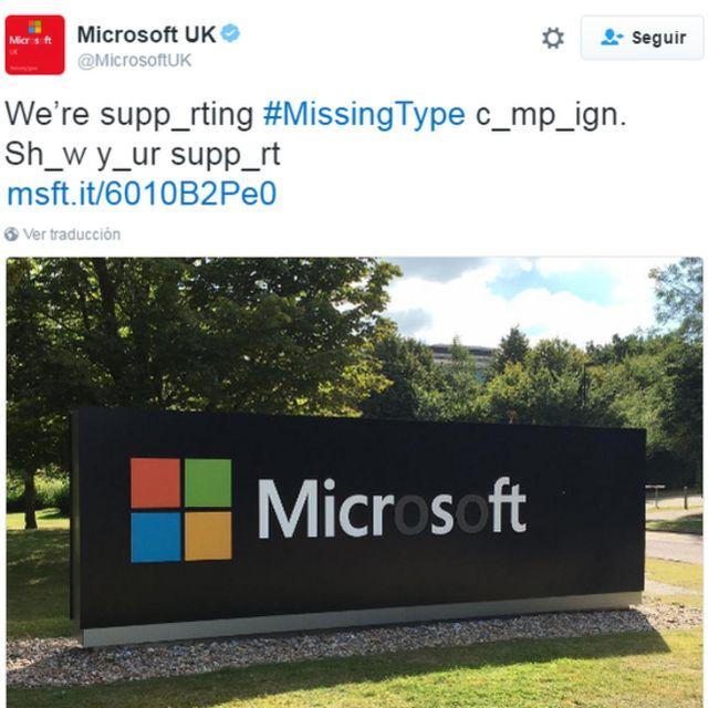 Microsoft eliminó las letras o de sus letrero.
