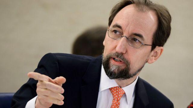 フセイン国連人権高等弁務官は、大衆迎合的な政治扇動を食い止めるよう呼びかけた。写真は今年2月、ジュネーブで。