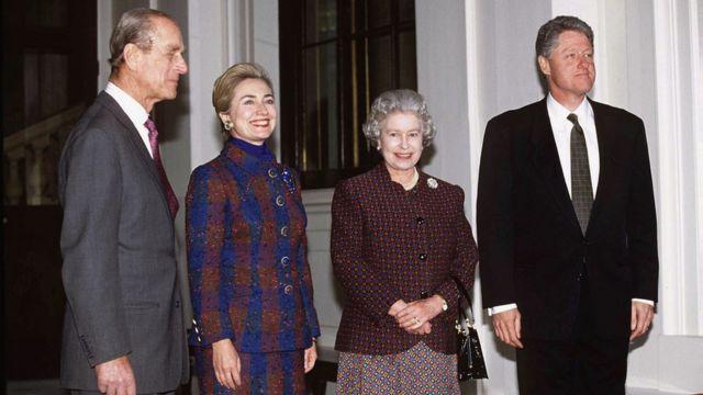 Clinton, Amiir Philip iyo Boqoradda oo kulmay 1995-kii