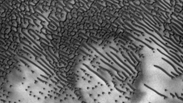 Fotografía de las dunas en Marte
