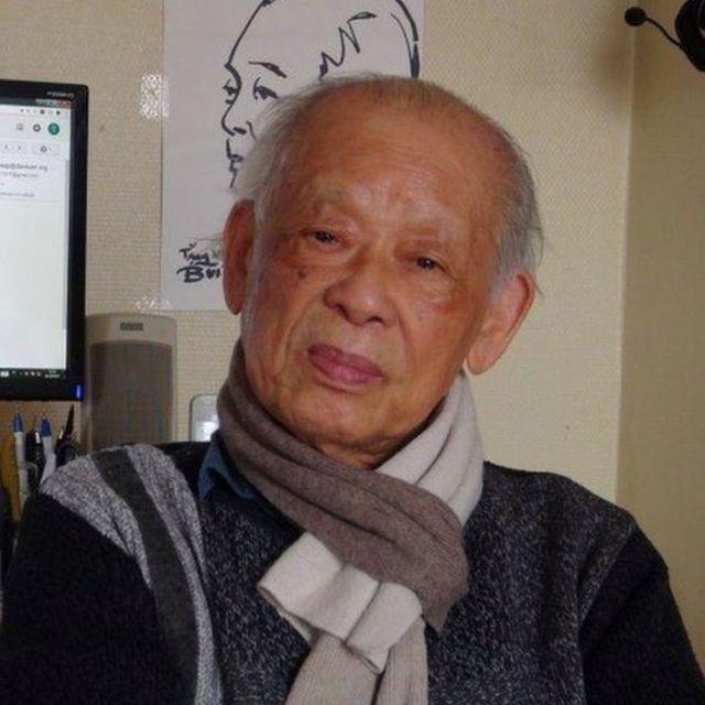 Nhà báo Bùi Tín tại căn hộ nhỏ của ông tại Pháp hồi đầu năm 2018