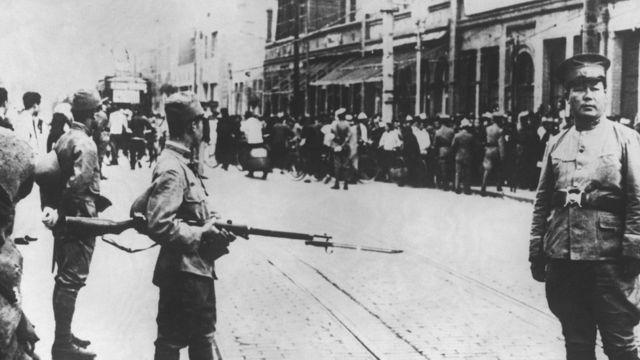 二次世界大战日军占领天津情况(1939)