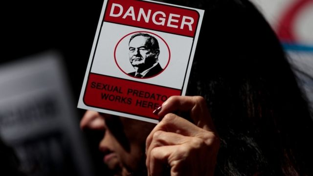 Protesta contra Bill O'Reilly en Nueva York