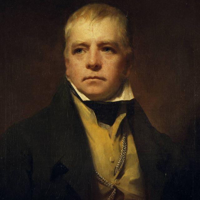 Sir Walter Scott, 1771-1832. Novelista y poeta, retratado por Sir Henry Raeburn, 1822.