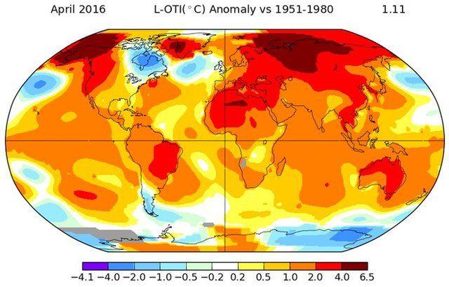 April breaks global temperature record