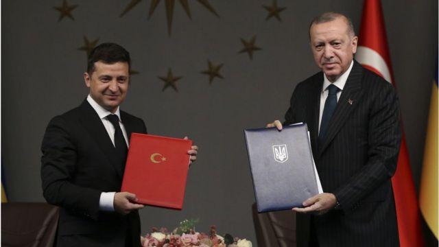 Ukrayna Cumhurbaşkanı Vladimir Zelenskiy ve Cumhurbaşkanı Recep Tayyip Erdoğan
