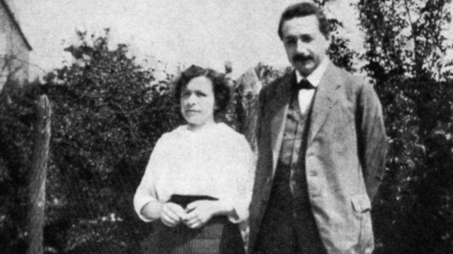 Milena y su marido Albert Einstein