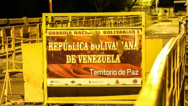 Щит на границе Венесуэлы