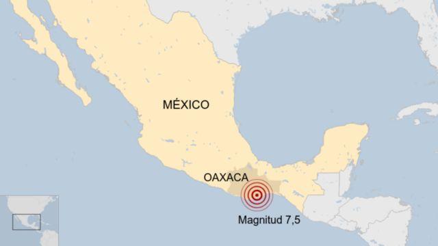 Un mapa del sismo