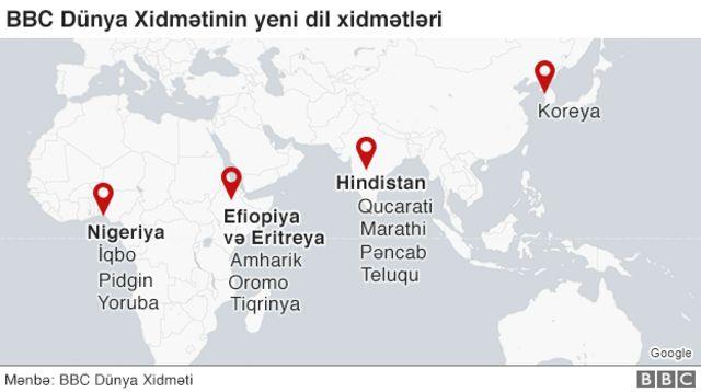 Dil və bölgələrin xəritəsi