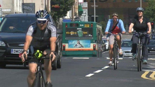 Cycling and driving in Cardiff