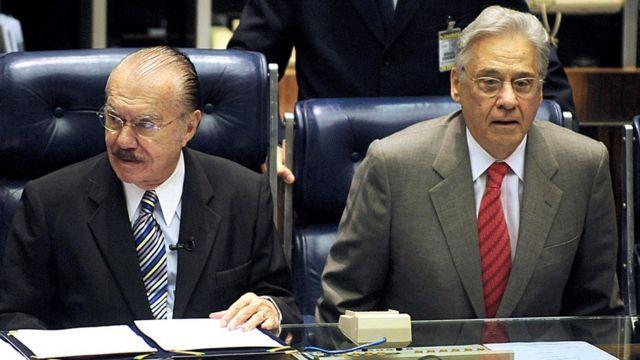 Sarney e FHC em comemoração de 15 anos do Plano Real, em 2009