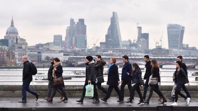 Empleados en Londres