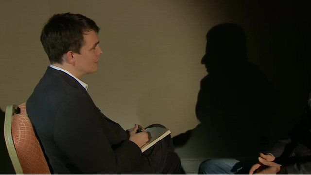 The BBC's James Reynolds speaks to a relative of one of the victims