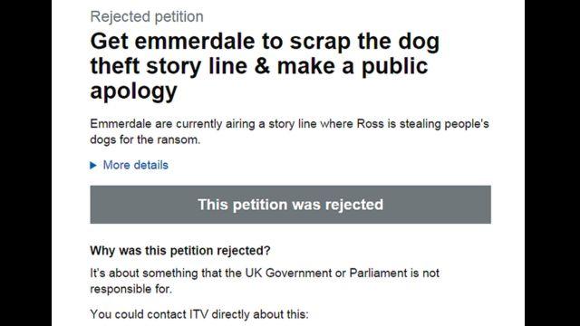 ITV telekanalının Emmerdale serialında bir əhvalat petisiyaçının xoşuna gəlməyib, amma hökumət belə işlərə qarışmır axı…