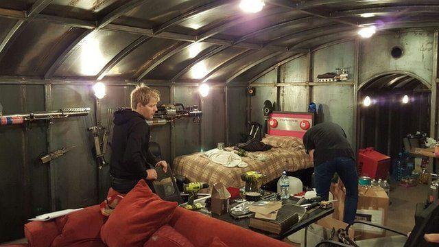 Colin Furze in his bunker