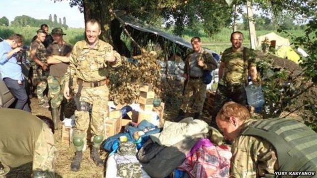 Abasirikare ba Ukraine bakira impano y'ibifungugwa n'ibindi bikoresho
