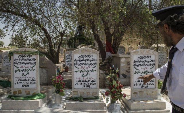 बग़दाद रेलवे स्टेशन के पास का कब्रगाह