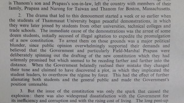 TNA, FCO 160/154/41 - Thailand: the October Revolution, 31 October 1973