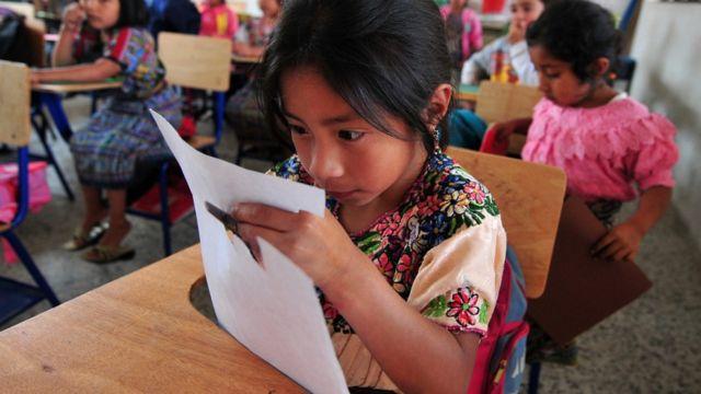Aula de clase en Guatemala