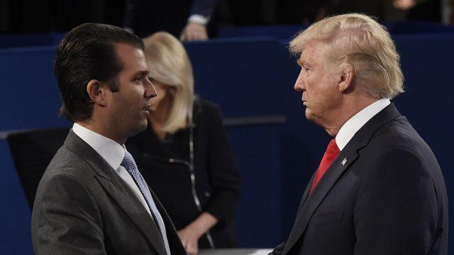 Donald Trump y su hijo Don Jr