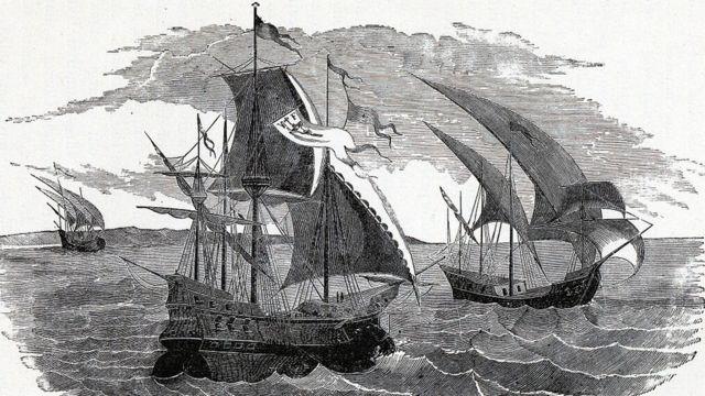 Ilustración barco Hernán Cortés