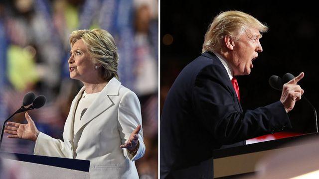 2016年夏。2人は大統領選の党候補指名を受諾した。