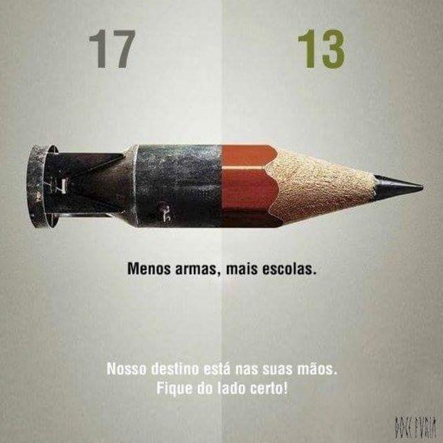 Meme sobre armas e estudos