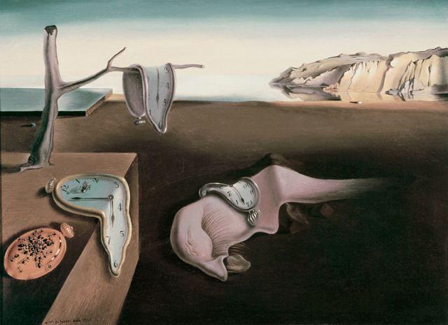 Reprodução de quadro de Salvador Dalí