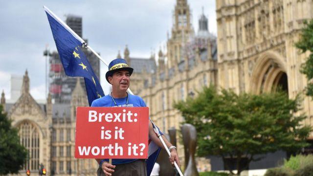 Пикет за ЕС у парламента Британии