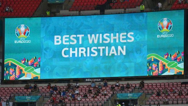 Aviso deseando buenos deseos a Erikssen