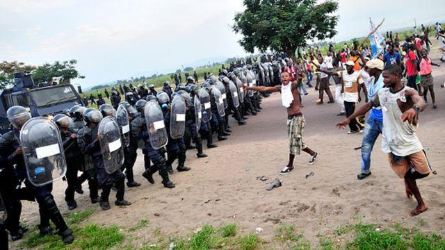 RDC, police, manifestants