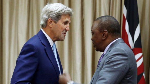 John Kerry na Uhuru Kenyatta