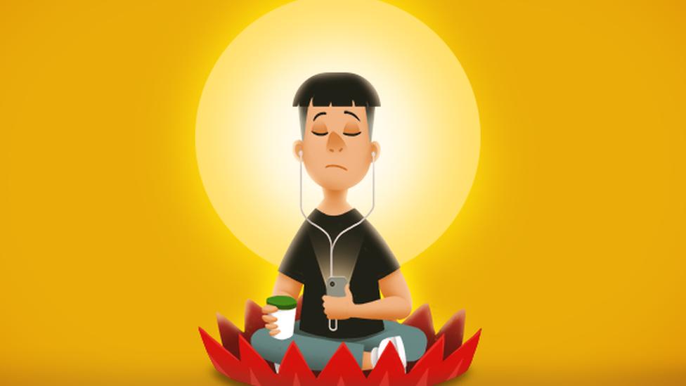 「佛系青年」插圖