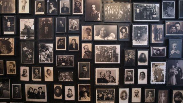 Fotos de personas que estuvieron presas en Auschwitz.