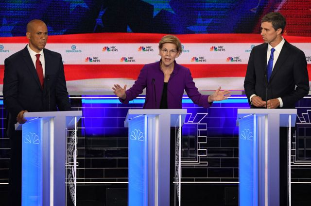 US election 2020: Democratic divisions laid bare in feisty TV debate