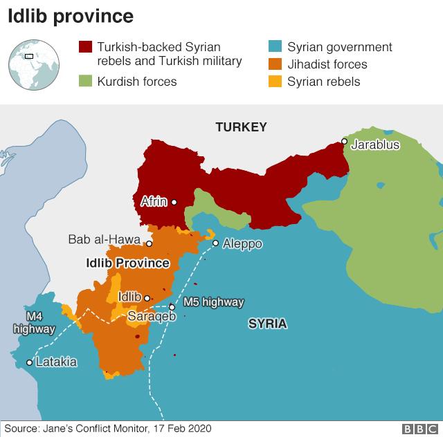 Syria Idlib control map