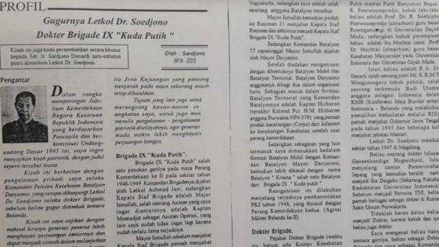 Peristiwa penembakan dr. Sudjono diceritakan oleh mantan koleganya dalam sebuah buletin internal TNI-AD.