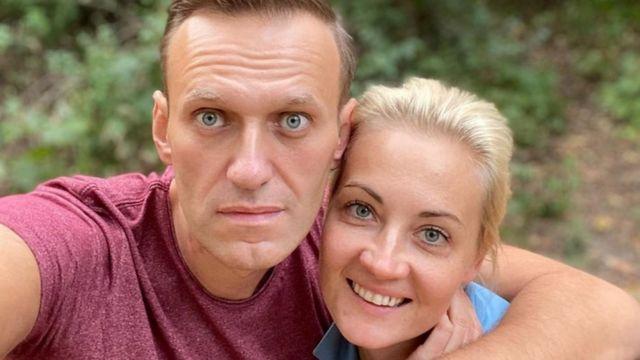 الکسی ناوالنی و همسرش یولیا ، عکس هفته گذشته