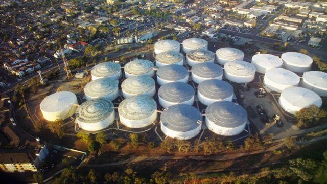 美國加州的一處儲油設施
