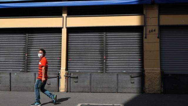 Estabelecimentos comerciais fechados no Centro de São Paulo em 20 de março