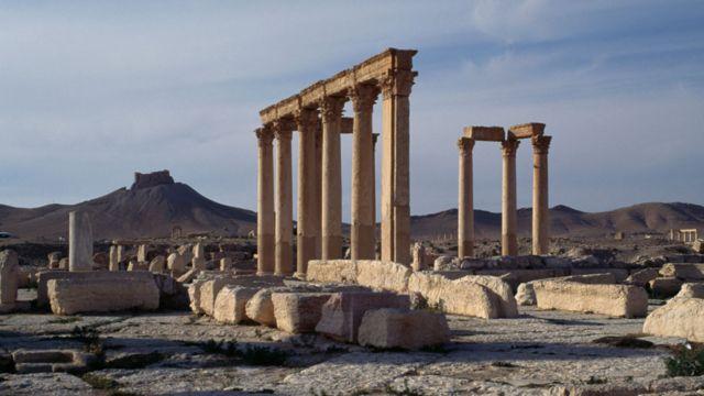 Las ruinas de Palmira, en la actual provincia siria de Homs